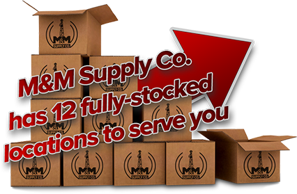 M&M Supply Co. has 13 fully-stocked locations to serve you